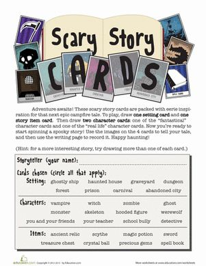 Scary Story Card Game  Creative Writing, Creative And Creepy Halloween