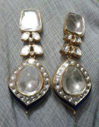 Big polki earings   Bridal kundan meena jadau jewellery ...