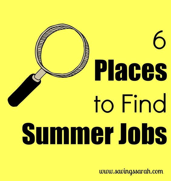how to find a summer job