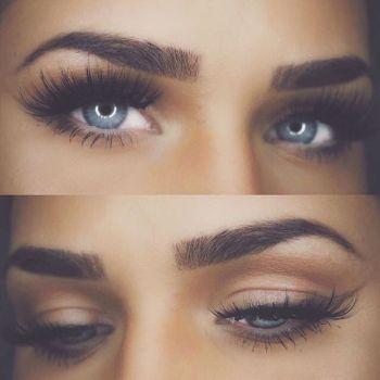 Brows and liner using #Dipbrow in Dark Brown  @helenareynismakeup  #anastasiabrows: