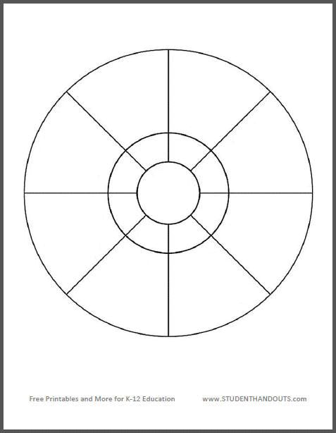 Free Printable Circular Eight-Compartment Graphic