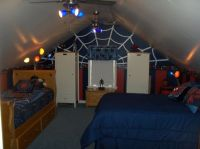 Cape Cod Attic Bedroom Ideas | Spider-Man bedroom - Boys ...