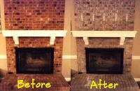 DIY Update Your Red Brick Fireplace! White Wash your brick ...