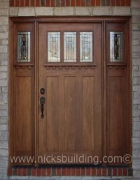 special walnut stain color on a craftman style entry door ...
