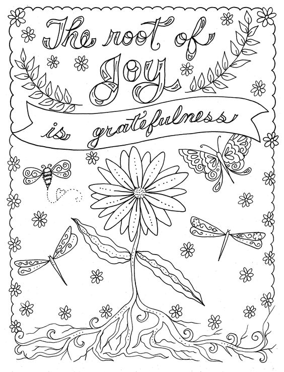 Coloring Journal and Coloring Book, Color Me Thankful is