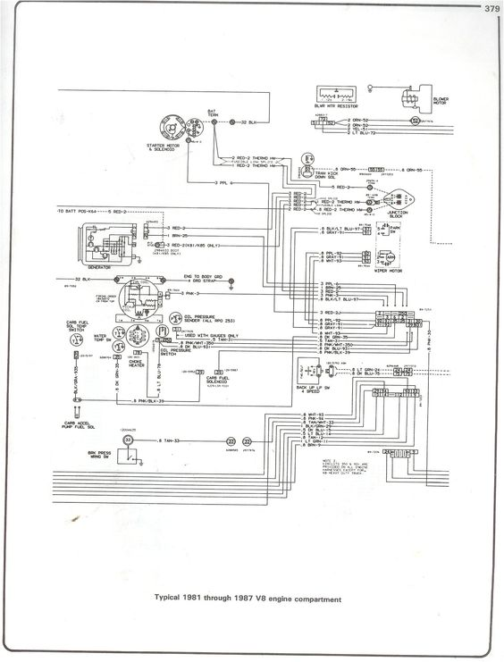 1987 chevy c10 truck 4 headlight wiring diagram
