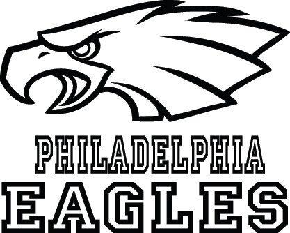 Philadelphia Eagles Football Logo & Name Custom by
