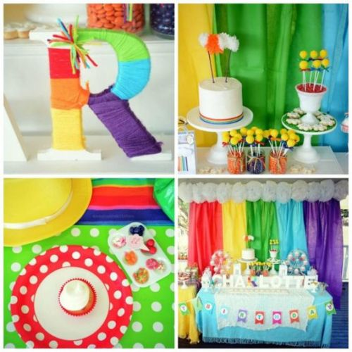 Vintage Rainbow Birthday Party via Kara's Party Ideas KarasPartyIdeas.com (1):