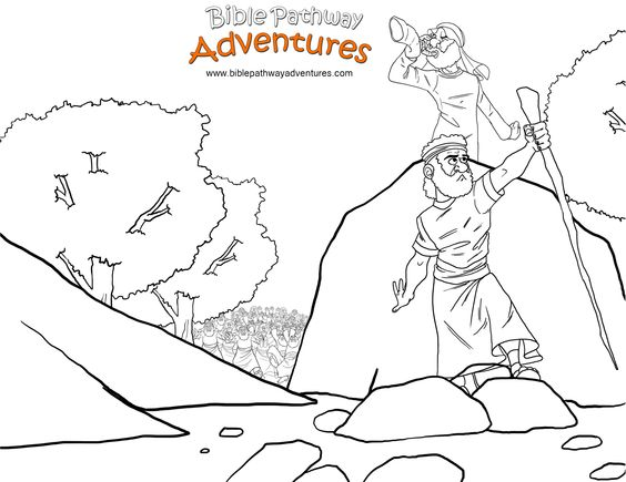 Promised land, Coloring pages for kids and Bible stories