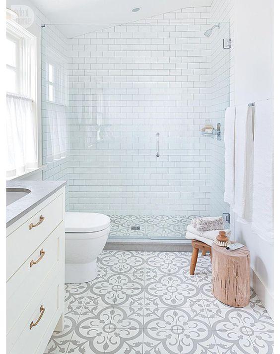 Moroccan tile bathroom.                                                                                                                                                      More: