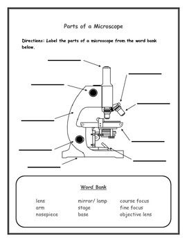 Label the Microscope Parts for Elementary School Students