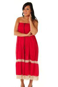 red summer dresses for women | ... Women's Red Boho ...