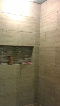 12x24 horizontal tile brick pattern shower | work ...