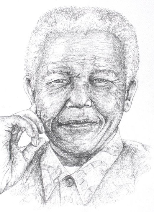 Artworks, Nelson mandela and Pencil drawings on Pinterest