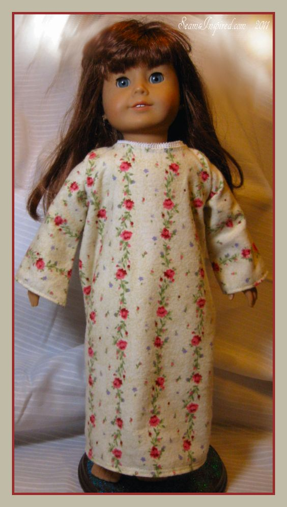 Seams Inspired Christmas Quickies 18quot Doll PJ Set