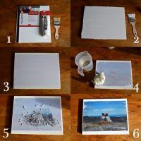 diy photo canvas OR. use idea to take photo to copy shop ...