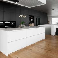 Storage room, Contemporary kitchens with islands and ...