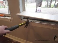 How to replace windowsill PLUS beautiful diy craftsman ...