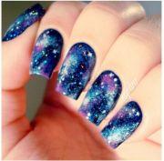 beautiful galaxy nails die