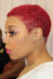 red short natural hairstyles