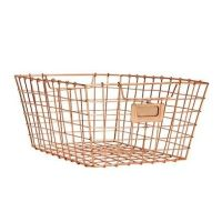 Rose gold desk tidy tray, a wire mesh tray to keep your ...