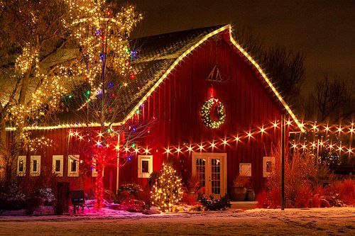 Christmas Barn Country Christmas Pinterest Gardens