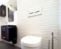 Designer Textured Glossy White Decor Wave 3D Effect Wavy ...