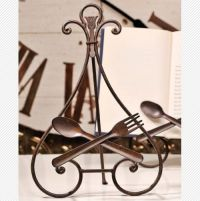 Plate holder, Forks and Spoons on Pinterest