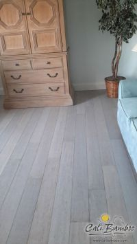 White hardwood floors for beach house interior design ...