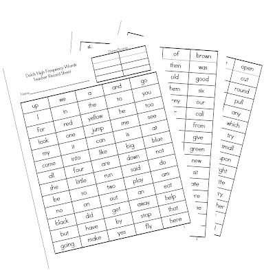 Sight words, First grade and Recording sheets on Pinterest