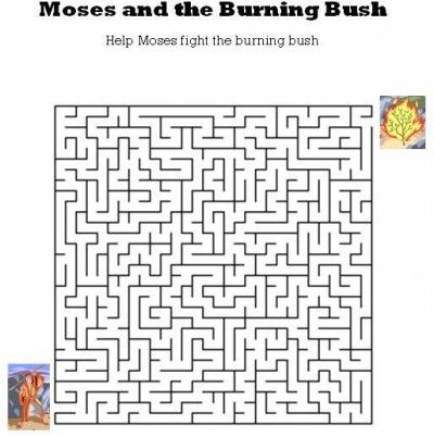 Kids Bible Worksheets-Free, Printable Moses and the