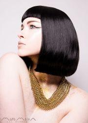 modern egyptian hair make necklace