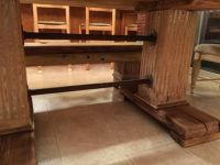 Custom farm table structure with huge 4x4 (or 6x6?) legs ...