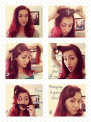 rockabilly vintage hair tutorial