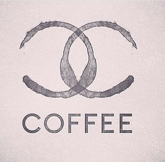{ Chanel and coffee, both a necessity }: