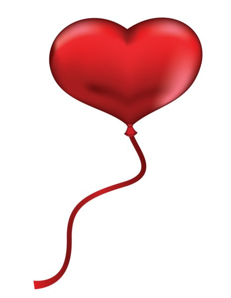 red heart balloon clipart