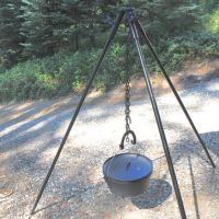 Tripod Campfire Stand, cook in pot hanging over fire ...