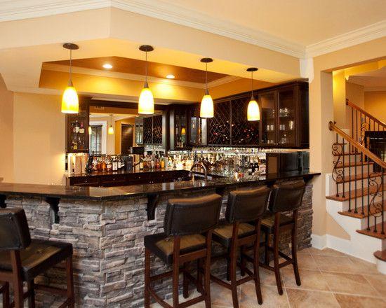 Kitchen/bar Right At Bottom Of Stairs Basement +renovation