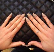 sandy matte acrylic nails nail