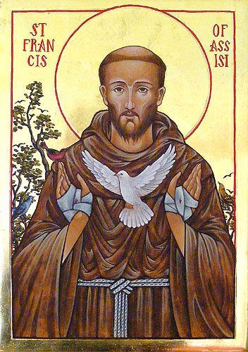 Icons - Saints - The Studio of John the Baptist : sacredart.co.nz ~ St. Francis of Assisi: