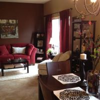 Maroon, brown and cream | LIving room | Pinterest | Paint ...