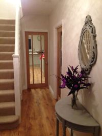 Hallway; Dulux Nutmeg White walls, Annie Sloan Paris Grey ...