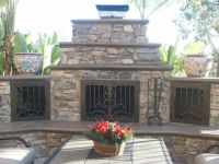Outdoor Fireplace door by AMS Fireplace - www.amsfireplace ...