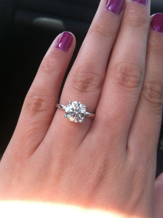 208 carat round cut 14 karat white gold solitaire engagement ring from Ascot Diamonds