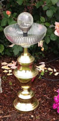Bird baths, Old lamps and Lamps on Pinterest