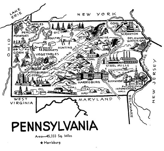 Pennsylvania, Colors and US states on Pinterest