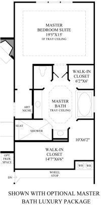 Toll Brothers - Alon Estates: Master suite layout ...