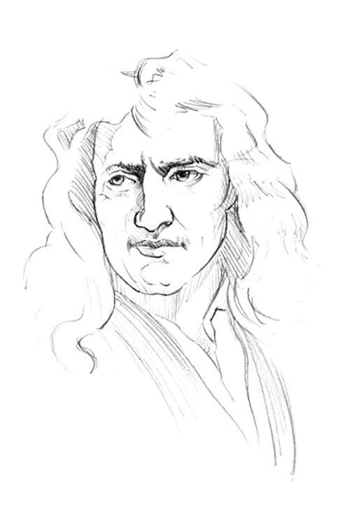 Isaac newton, Coloring pages for kids and Coloring pages