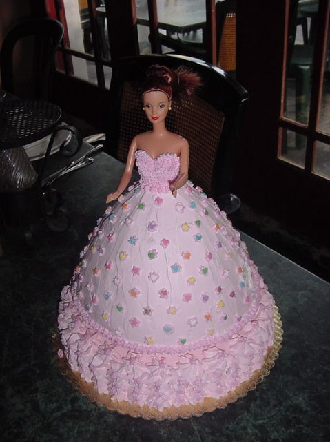 Barbie Doll Cake Real Barbie Doll In Cake Covered In