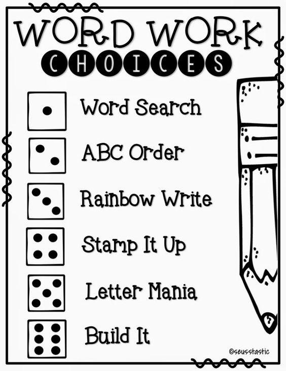 Need word work ideas? Do you like freebies? Check this